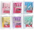 Pedicure / manicure setje 7-delig in tasje (6 assortie)