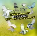 Alle Behandelstoelen van MB Beauty  & Gharieni nu met 10% korting + 10% extra bonus*